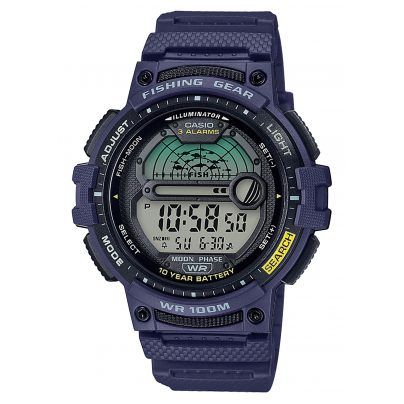 Casio WS-1200H-2AVEF Men's Watch Digital for Angler and Fishermen Blue 4549526252082