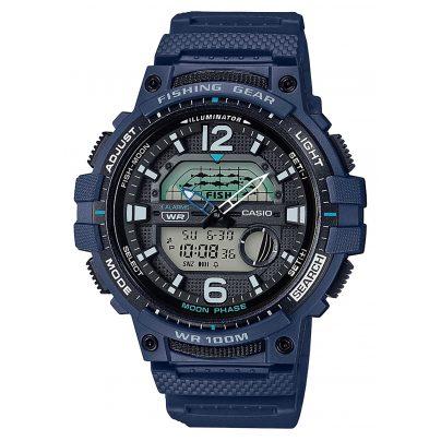 Casio WSC-1250H-2AVEF AnaDigi Men's Watch for Fishermen and Angler Blue 4549526252624