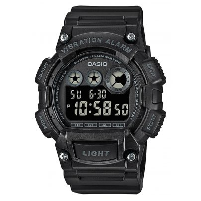 Casio W-735H-1BVEF Digital Herrenuhr Schwarz 4549526267888
