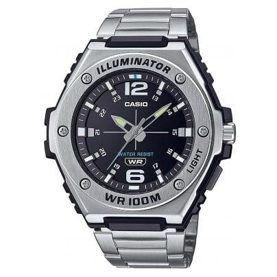 Casio MWA-100HD-1AVEF Collection Herrenuhr Silber/Schwarz 4549526273889