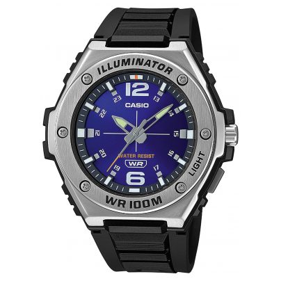Casio MWA-100H-2AVEF Collection Herrenuhr Schwarz/Blau 4549526273858