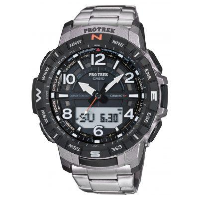 Casio PRT-B50T-7ER Pro Trek Bluetooth Men's Watch with Titanium Bracelet 4549526261862