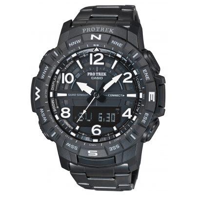 Casio PRT-B50YT-1ER Pro Trek Bluetooth Men's Watch Black Titanium Bracelet 4549526259609