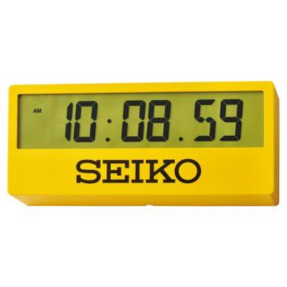 Seiko Large Digital Wall Clock / Table Clock Yellow QHL073Y