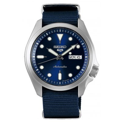 Seiko 5 Sports SRPE63K1 Automatic Men's Watch with Blue Nato Strap 4954628235657