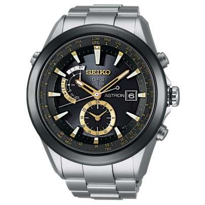 Seiko SAST005G Astron GPS Solar Herren-Armbanduhr 4954628156556