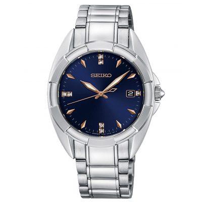 Seiko SKK889P1 Damen-Armbanduhr mit 7 Diamanten 4954628225245