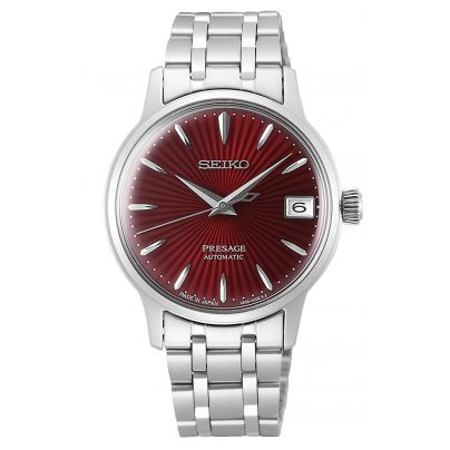 Seiko SRP853J1 Presage Automatic Ladies' Watch with Red Dial 4954628224668