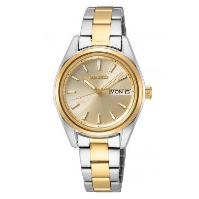 Seiko SUR354P1 Damen-Armbanduhr Bicolor mit Saphirglas 4954628236067