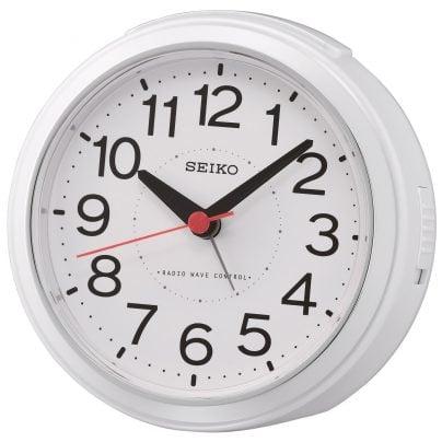 Seiko QHR026W Radio-Controlled Alarm Clock White 4517228835919