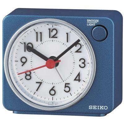 Seiko QHE100E Alarm Clock Quartz Blue without Ticking 4517228834615