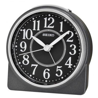 Seiko QHE137K Alarm Clock Quartz Black without Ticking 4517228830075