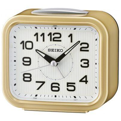 Seiko QHK050G Alarm Clock Bell Alarm Gold Tone without Ticking 4517228834714