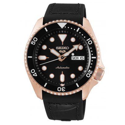 Seiko 5 Sports SRPD76K1 Men's Watch Automatic black / rose gold 4954628232281