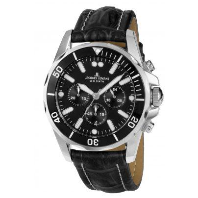 Jacques Lemans 1-1907ZA Herren-Chronograph Liverpool Diver 4040662133353