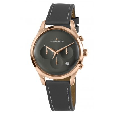Jacques Lemans 1-2067E Armbanduhr Retro Classic 4040662156581