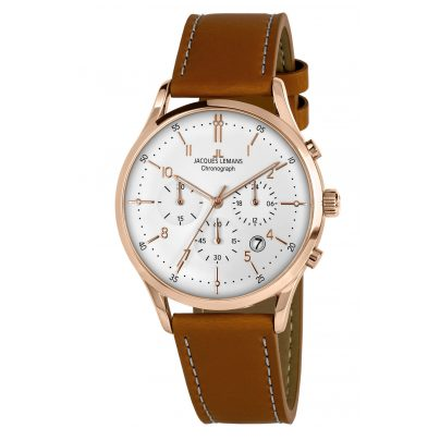 Jacques Lemans 1-2068R Herrenuhr Chronograph Retro Classic 4040662156796