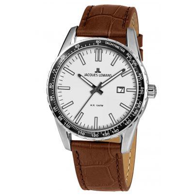 Jacques Lemans 1-2022C Herren-Armbanduhr Liverpool Weiß Ø 44 mm 4040662139218