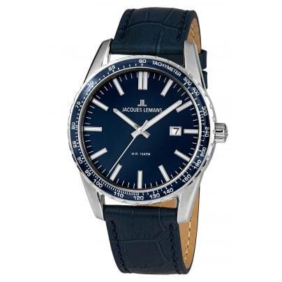 Jacques Lemans 1-2022D Herren-Armbanduhr Liverpool Blau Ø 44 mm 4040662139225