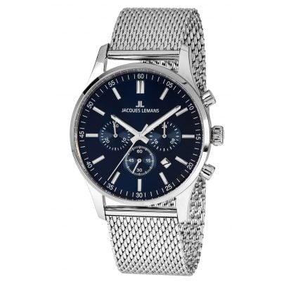 Jacques Lemans 1-2025H Men's Chronograph London with Mesh Bracelet 4040662138983