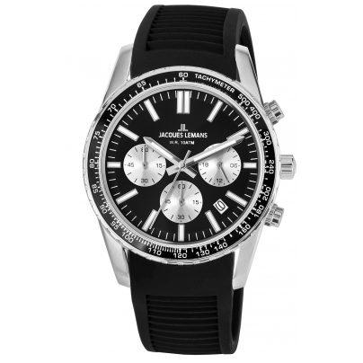 Jacques Lemans 1-2059A Armbanduhr Chronograph Liverpool Schwarz Ø 39 mm 4040662144083