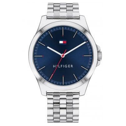 Tommy Hilfiger 1791713 Men's Watch with Steel Bracelet Barclay silver / blue 7613272379229
