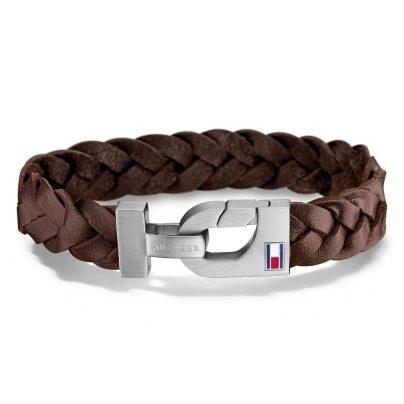 Tommy Hilfiger 2700874L Leather Bracelet for Men Casual Brown