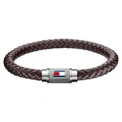 Tommy Hilfiger 2700998L Herren Leder-Armband Braun 7613272375801
