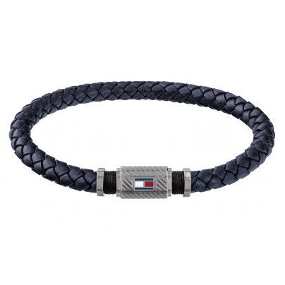 Tommy Hilfiger 2790083 Herren Leder-Armband Casual Blau 7613272327237
