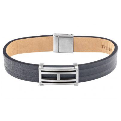 Tommy Hilfiger 2790269 Leder Herren-Armband Schwarz
