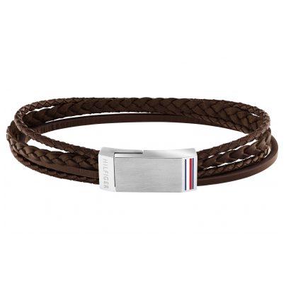 Tommy Hilfiger 2790280 Herren-Armband Leder Braun
