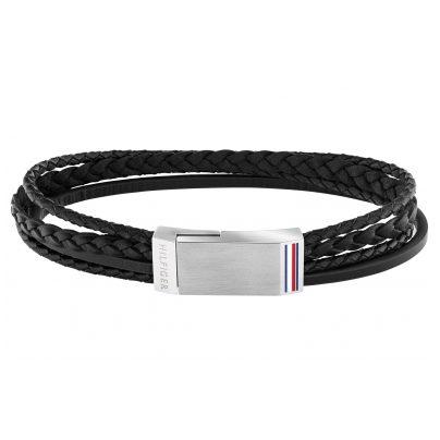 Tommy Hilfiger 2790281 Herren-Armband Leder Schwarz