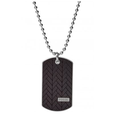 Fossil JF03395040 Men's Necklace Dog Tag Pendant 4053858723368