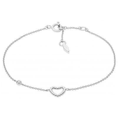 Fossil JFS00458040 Silber Damen-Armband Open Heart 4013496430059