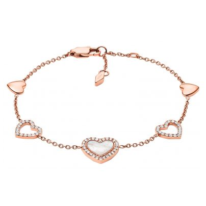 Fossil JF03458791 Damen-Armband Hearts To You Edelstahl roségold 4048803221044