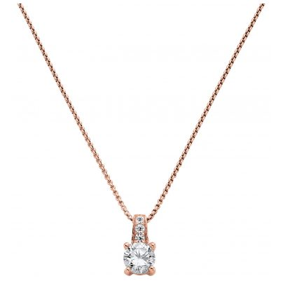 Viventy 770933 Women's Necklace with Solitaire Pendant Rose Gold Plated Silver 4028543720793
