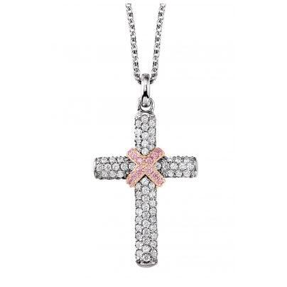 Viventy 780612 Silver Cross Pendant Ladies' Necklace 4049474305545