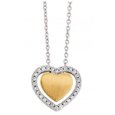 Viventy 781822 Silber Damen-Halskette mit Herz-Anhänger 4028543136228