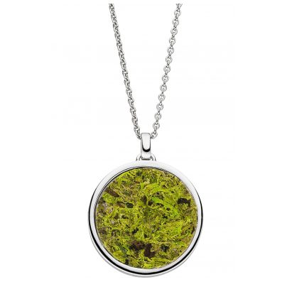 Viventy 783272 Silver Ladies' Necklace Pendant with Moss / Cornflowers 4028543220781