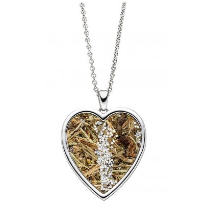 Viventy 783212 Silver Necklace for Ladies Heart with Wild Grass 4028543220729