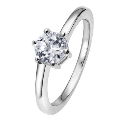 Viventy 781911 Engagement Ring Silver 925 Ladies' Ring Cubic Zirconia