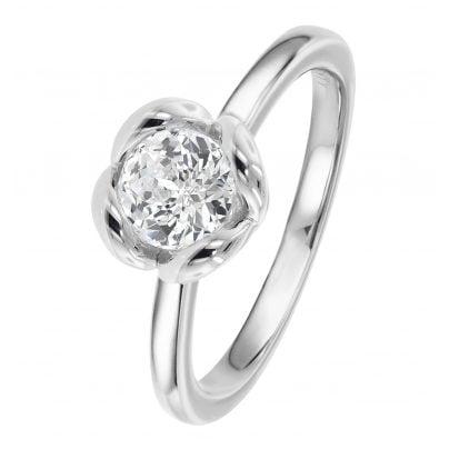 Viventy 783376 Women's Ring 925 Sterling Silver Rosebush Engagement Ring