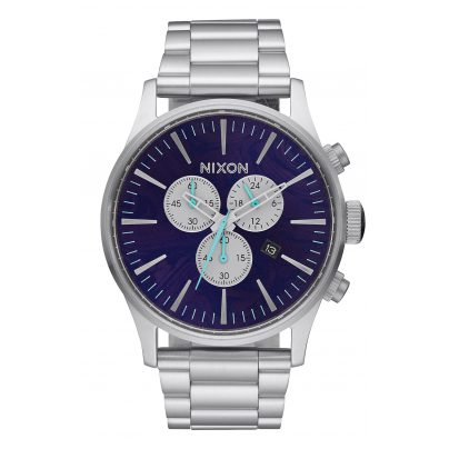 Nixon A386 230 Sentry Chrono Purple Mens Watch 3608700746890
