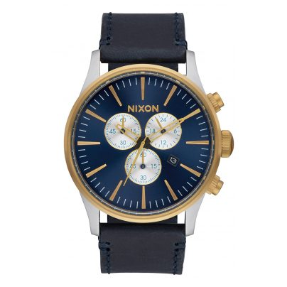 Nixon A405 1922 Sentry Chrono Leather Mens Watch 3608700746937