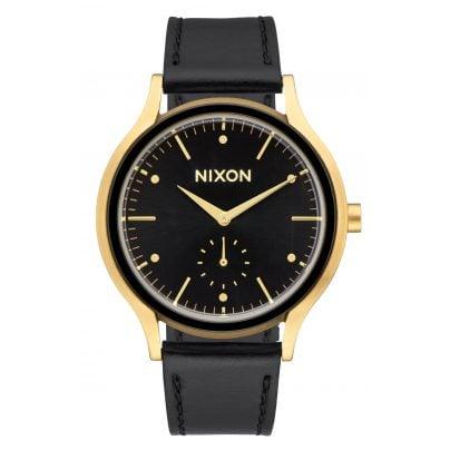 Nixon A995 513 Sala Leather Gold/Black Damenuhr 3608700773698