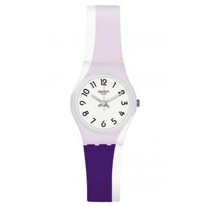 Swatch LW169 Damenuhr Purpletwist 7610522809765