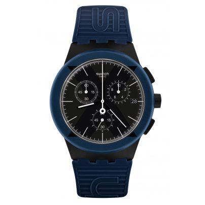 Swatch SUSB418 Herrenuhr Chronograph X-District Blue 7610522808171