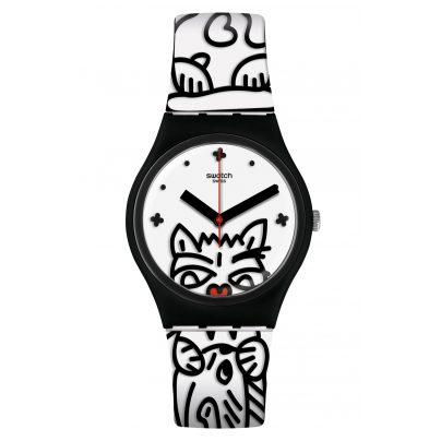 Swatch GB322 Damen-Armbanduhr Comicat 7610522812406