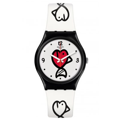 Swatch GB321 Damenuhr Fishy Fishy 7610522812390