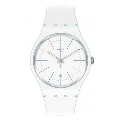 Swatch SUOS404 Wristwatch White Layered 7610522822467